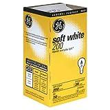 GE 11585-12 A21 Incandescent Soft White Light Bulb, 200-Watt, 12-Pack