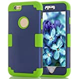 Landfox 6 Plus Case,iPhone 6 Plus Case, Rubber Case Cover for for iPhone6 Plus 5.5 Inch,Hybrid Impact Shockproof Pattern Case (Navy)