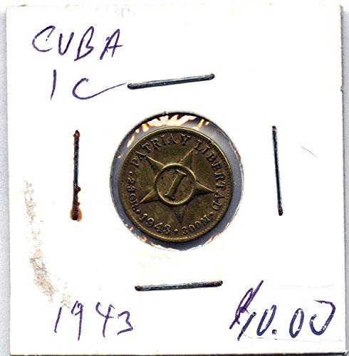 1943 CU ISLA DE CUBA 1 CENTS EXTRA ()