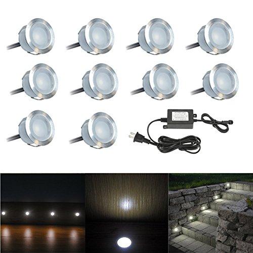 outdoor recessed lighting FVTLED 10 Pack Low Voltage LED Deck