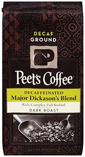 Peet's Coffee, Decaf Important Dickason's Blend Ground, Dark Roast, 12-Ounce