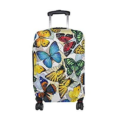 Yellow Polka Dot Palm Leaves Travel Luggage Protector Case Suitcase Protector For Man/&Woman Fits 18-32 Inch Luggage