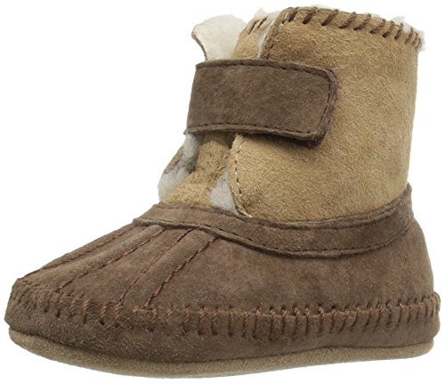 Baby Shearling Boots - Robeez Girls' Galway Cozy Bootie Boot, Brown, 0-6 Months M US Infant