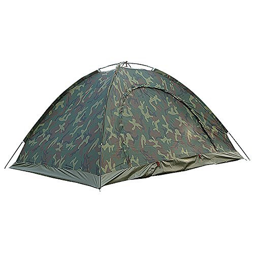 Camo Dome Tent (Waterproof 2 Person 4 Season Dome Tent for Camping Hiking with Carry bag - Camo)