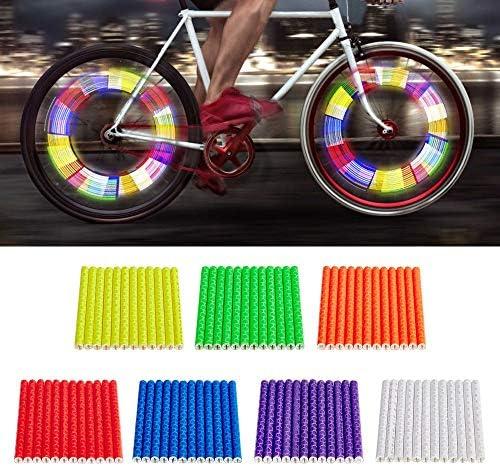 Reflective Bright Spokes Bicycle Cycle Bike Wheel Clip On Reflector Spoke Strips