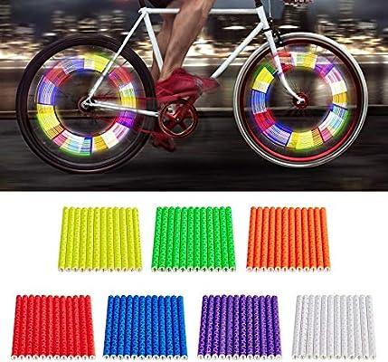 12X Cycling Wheel Spoke Reflector Bike Bicycle Reflective Clip 2019h Mount O9R7