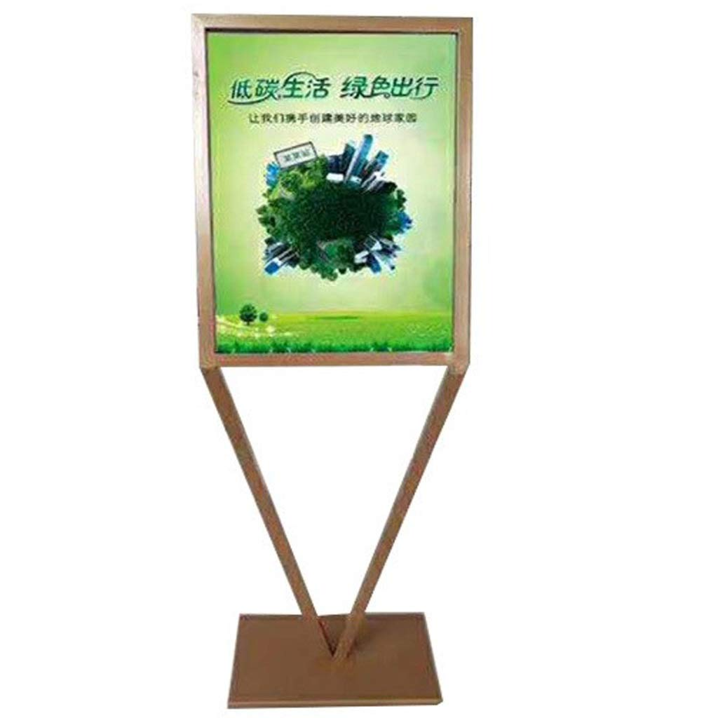 LXJYMX Poster Stand Poster Display Board Stainless Steel Display Stand Floor Type KT Board Display Stand Vertical Advertising Frame Poster Board Billboard Sign Stand by LXJYMX