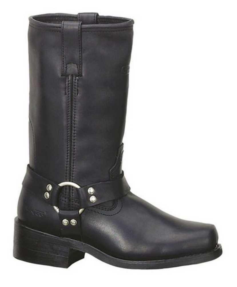 AdTec Women's Harness Motorcycle Boot 12'' Black Heavy Duty Leather 2442 (6.5)