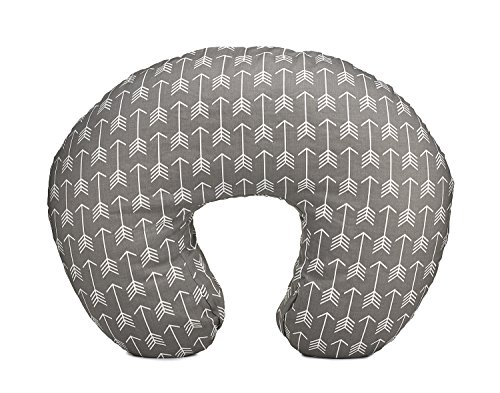 Org Store Premium Nursing Pillow Cover | Slipcover for Breastfeeding Pillows (Gray w/White Arrows)