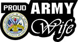 1 Set Enormous Modern Proud Army Wife Sticker Sign Vinyl Decor Wall Size 6