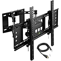 Foho Dual Articulating Arm TV Wall Mount Bracket for 32-70 inch TVs - 20 Extension