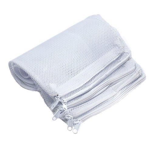 FunLavie 20 Pcs Aquarium Filter Media Bag Nylon Mesh Bag Net Bag Zipper High Flow Mesh ()