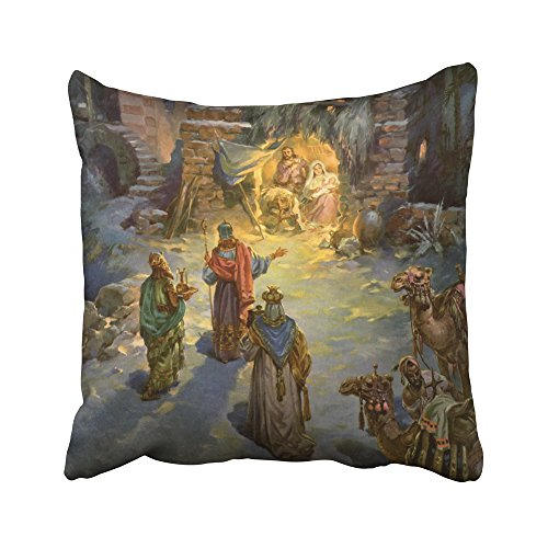 Magis Modern Chair (Sneeepee Decorative Pillowcases Vintage Vintage Christmas Nativity With Visiting Magi 18X18 Inches Throw Pillow Covers Cases Home Decor Sofa Cushion Cover)