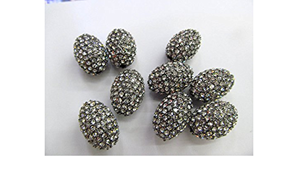 Mix Color faceted stone beads with side hole pave rhinestone gemstone beads pendant connector jewelry finding beads 510PCS