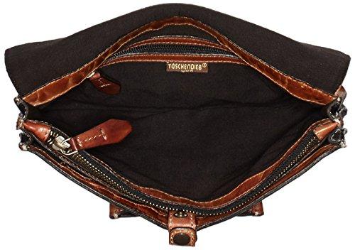 Taschendieb Td0754, Borsa a Tracolla Donna Multicolore (Cognac/Cognac)