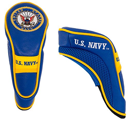 Team Golf Military Navy Hybrid Golf Club Headcover, Hook-and-Loop Closure, Velour lined for Extra Club Protection