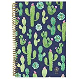 """bloom daily planners 2019 Calendar Year Day Planner - Passion/Goal Organizer - Monthly and Weekly Dated Agenda Book - (January 2019 - December 2019) - 6"""" x 8.25"""" - Navy Cacti"""