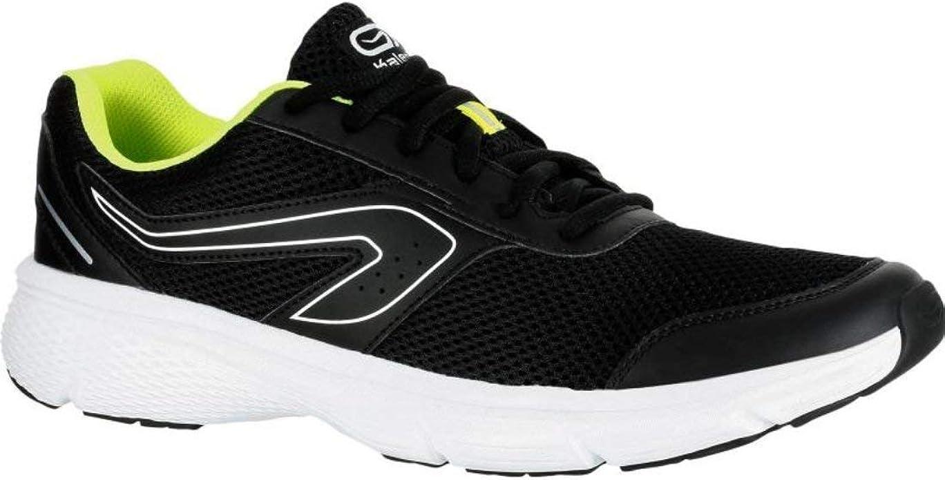 Kalenji Run Cushion - Zapatillas de Running para Hombre, Color Negro y Amarillo: Amazon.es: Zapatos y complementos