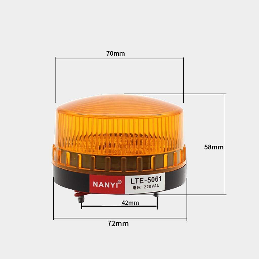B Blesiya 1 St/ück Licht mit LED-Lampe Blitzleuchte Rundumleuchte Blinker Warnlicht 220V