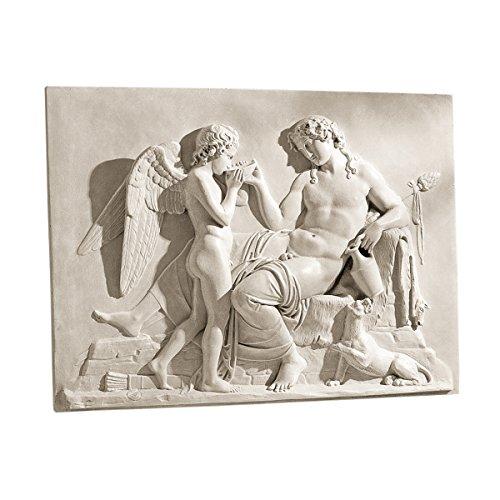 - Design Toscano Eros and Dionysus High Relief Frieze Sculpture