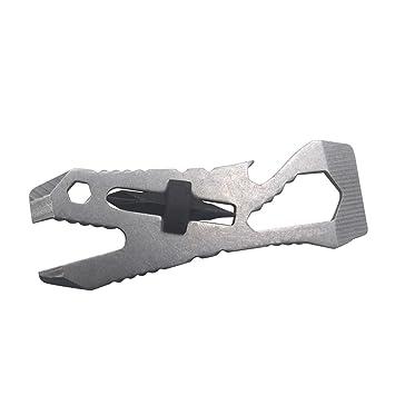 TAOtTAO EDC herramienta de combinación plegable multifunción, herramienta de reparación de desmontaje