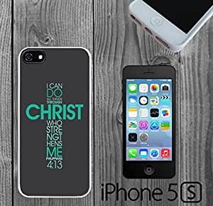 Bible Philippians Jesus Christ Custom made Case/Cover/Skin FOR iPhone 5/5s hjbrhga1544