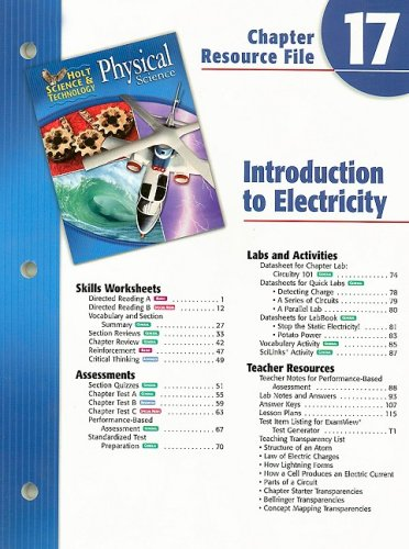 Holt Science & Technology Physical Science Chapter 17 Resource File