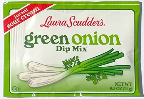 Laura Scudders Green Onion Dry Dip Mix and Seasoning - Great For Vegetables, Chips, Sauces and Seasoning - Sour Free Sugar