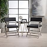 Cheap Vista Leather Modern Arm Chairs (Set of 2) (Black)
