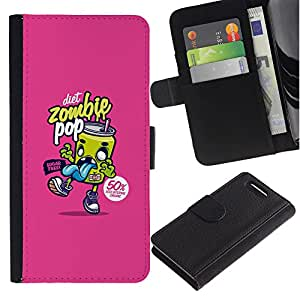 Stuss Case / Funda Carcasa PU de Cuero - Graffiti Pop Soda Food Art Street - Sony Xperia Z1 Compact D5503