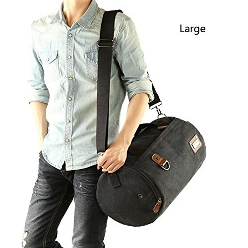 Sport Tote Canvas Nero Short Fitness Cube Mens Zaino Shape Travel Ademi Bag Shoulder IXRxYqw
