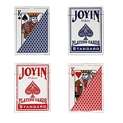 12 Decks Playing Cards with Poker Chips and Dice, Poker Size Regular Index (6 Red/6 Blue) by Joyin Toy: Toys & Games