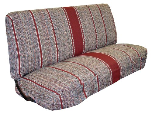 Full Size Truck Bench Seat Covers - Fits Chevrolet, Dodge, and Ford Trucks (Burgundy)
