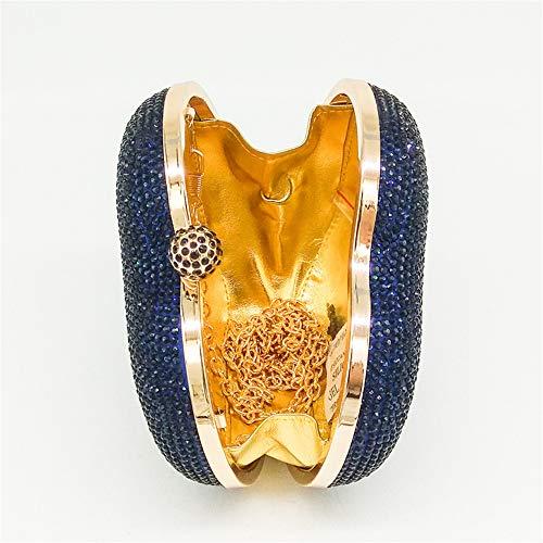 Blue Cristal de en en Main Forme Color à pour Coeur Silver rabbit Sac Femme Lovely Xwp61x