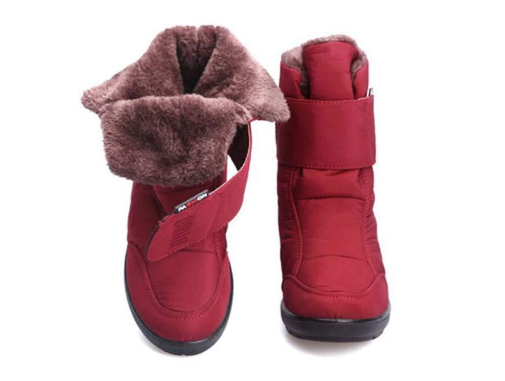 Bottes De Neige Hautes Chaussures De Coton Haut De La Femme Non-Slip Imperméable À l'eau Chaude Femmes Enceintes Bottes Mère Chaussures De Plein Air Casual Chaussures De L'ue Taille 35-43