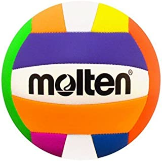 Molten Recreational Beach Volleyball, Neon Multicolor by Molten
