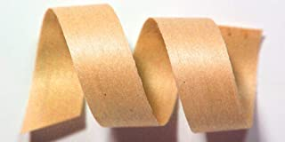 "product image for 100% Biodegradable Natural Ribbon | 33 Solid Colors | Ribbon for Crafts | Cotton Curling Ribbon | Holiday Ribbon | Wrapping Ribbon | Eco-Friendly Ribbon (Peach, 1/2"" x 100 Yards)"