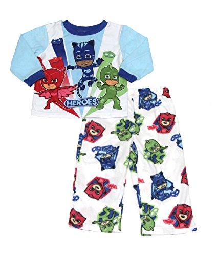 Pajama Pants Boys Fleece (Disney Toddler Boys PJ Masks Fleece Sleepwear Pajama Set (Light Blue, 5T))