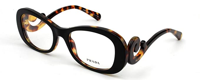 2e110101c2 Prada Eyeglasses 0Pr 09Pv Nai1O1 Top Black Medium Havana - 54 19 135 ...