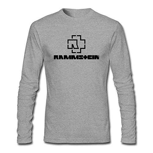 Newm Men's Rammstein Logo Long Sleeve 100% Cotton T Shirt