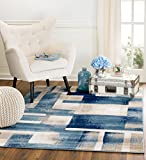 MADISON COLLECTION B4-MLV8-CXK8 404 Modern Abstract Blue Area Rug Clearance Soft and Durable Pile. Size Option , 5'x7′ Review