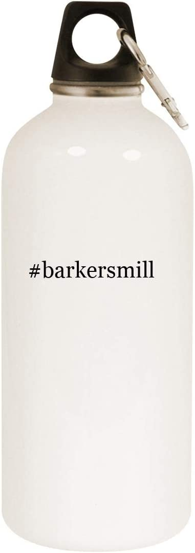 #barkersmill - 20oz Hashtag Stainless Steel White Water Bottle with Carabiner, White 51VWbSOBzDL