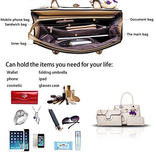 borsa Bianco femminile da moda a borsa donna Sdinaz tre a nuova 2018 mano a pezzi tracolla borsa portafoglio qPgHcBCZwT