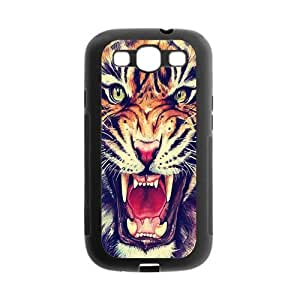 Samsung Galaxy S3 I9300 Case,Tiger Roar Hipster Quote Hign Definition Wonerful Design Cover With Plastic Protective Rubber Case