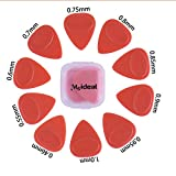JYFY Meideal Guitar Picks Plectrums Plastic Non Slip 10pcs Multi Size for Acoustic Electric Guitar Bass (red)