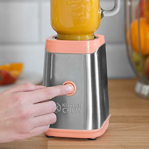 Máquina para preparar smoothies 350W, Mason Jar, mini batidora de ...