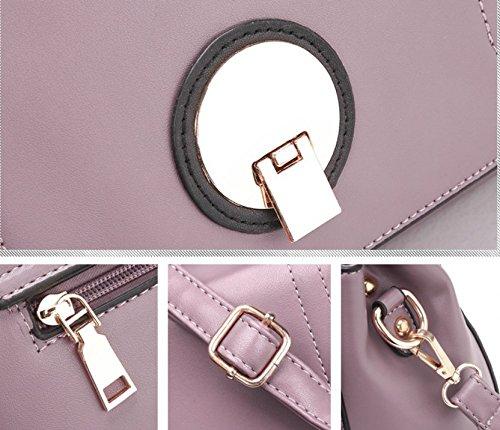 Sac Bandoulière Nouveau À Messenger Simple À À Lock Bandoulière Meaeo Sac Violet Purple Mode Sac Main Yqd88