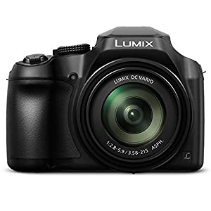 51VWc0XqprL. SS300  - PANASONIC LUMIX FZ80 4K Digital Camera, 18.1 Megapixel Video Camera, 60X Zoom DC VARIO 20-1200mm Lens, F2.8-5.9 Aperture, POWER O.I.S. Stabilization, Touch Enabled 3-Inch LCD, Wi-Fi, DC-FZ80K (Black)