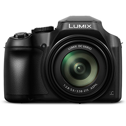 PANASONIC LUMIX FZ80 4K Digital Camera, 18.1 Megapixel Video Camera, 60X Zoom DC VARIO 20-1200mm Lens, F2.8-5.9 Aperture, POWER O.I.S. Stabilization, Touch Enabled 3-Inch LCD, Wi-Fi, DC-FZ80K (Black) Digital Zoom Lens Camera Lens