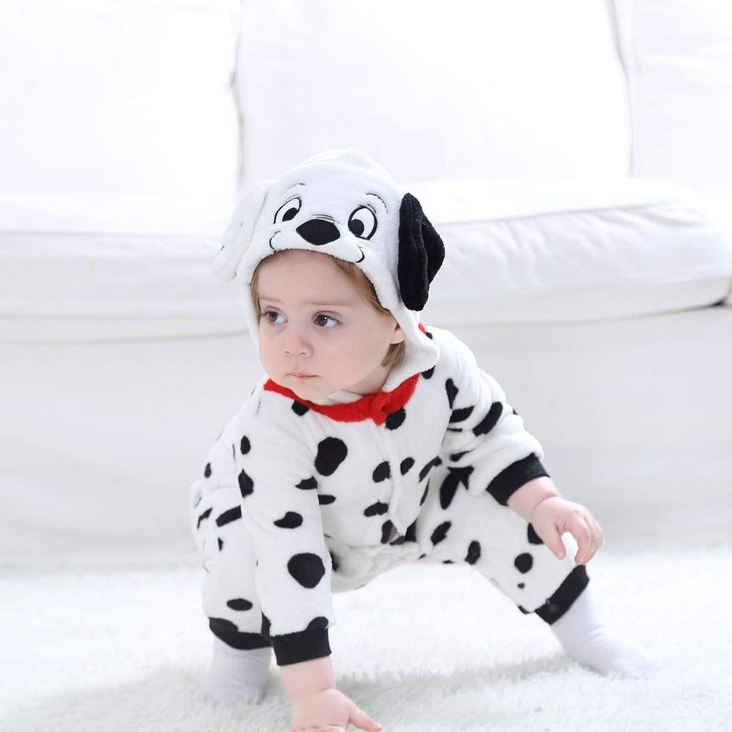 YESOT Fashion Unsex Jumpsuit Baby Toddler Cute Animals Cosplay Boys Girls Cute Cartoon Pajamas Bodysuit Romper